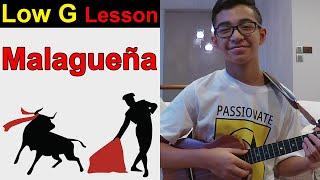 Malagueña - Flamenco Ukulele Tutorial - rock and roll music ukulele