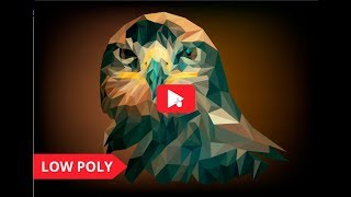Portrait of eagle in low poly style.