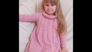 Вязание Платьев для Девочек Спицами - модели 2019 / Knitting Dresses for Girls with Knitting Needles