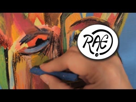HOW TO PAINT WITH ACRYLIC PAINT and OIL PASTEL MIXED MEDIA ART Texture by RAEART