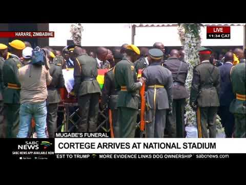 Cortege arrives at Mugabe funeral