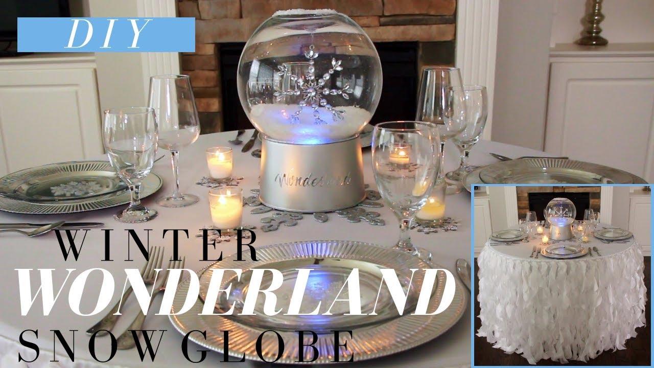 Diy Winter Wonderland Decor Christmas Party Snow Globe Centerpiece