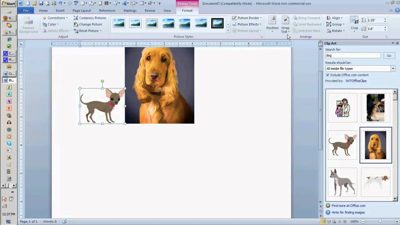 adding clip art to a word document youtube rh youtube com free clipart for word documents Word Document Templates