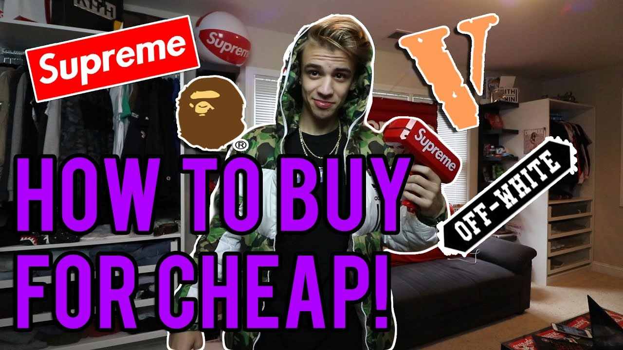 how to buy the best streetwear for cheap supreme bape off white vlone etc youtube. Black Bedroom Furniture Sets. Home Design Ideas