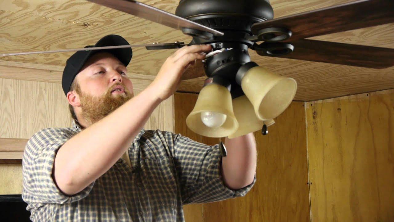 How To Attach A Light Fixture Fan