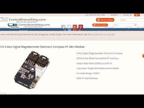 Raspberry Pi MAG3110 Magnetometer Electronic Compass Sensor Python Tutorial