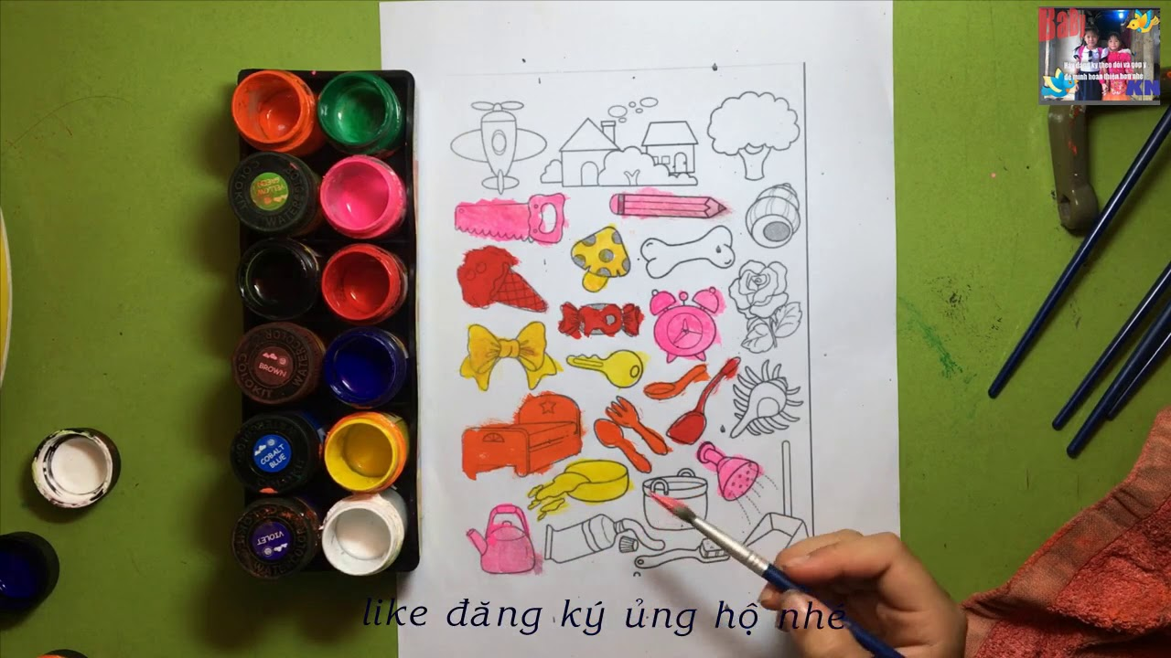 coloring/BÉ TÔ MẦU NHỮNG VẬT DỤNG GIA ĐÌNH/bé tập vẽ và tô mầu/đồ chơi trẻ em