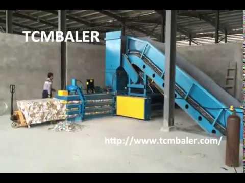 TCM BALER bulk ONP pressing baler machine Botswana Jordan  Latvia