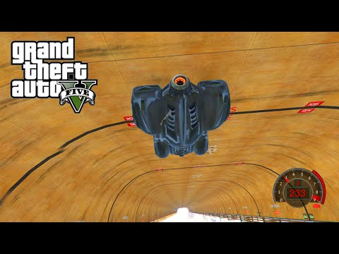 GTA 5 PC Mods - WORLD'S LONGEST STRAIGHT DOWN RAMP STUNTS!!! GTA 5 Ramp Mod Funny Moments!