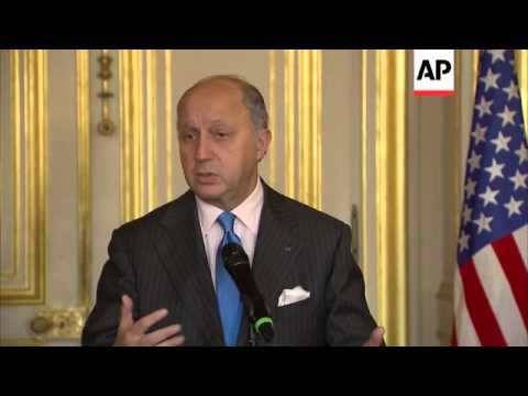 US Secretary of State John Kerry and French FM Fabius comment on Iranian nuclear programme