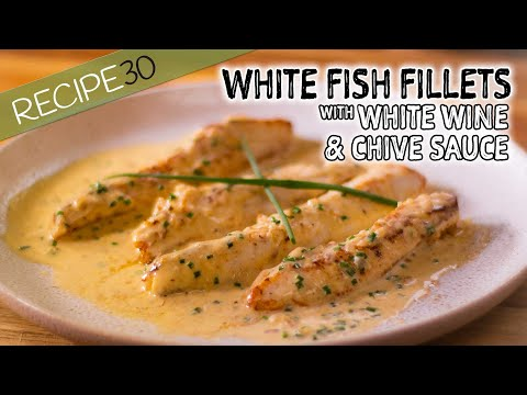White Fish In Creamy White Wine And Shallot Sauce