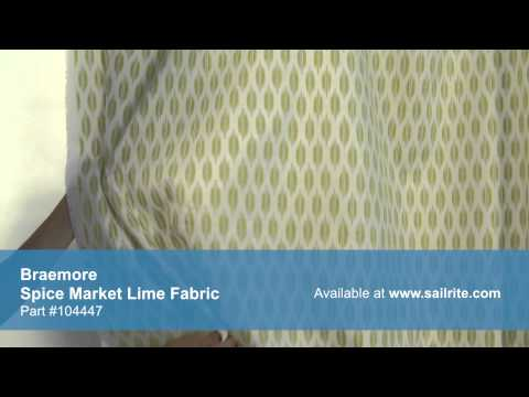 Video of Braemore Spice Market Lime Fabric #104447