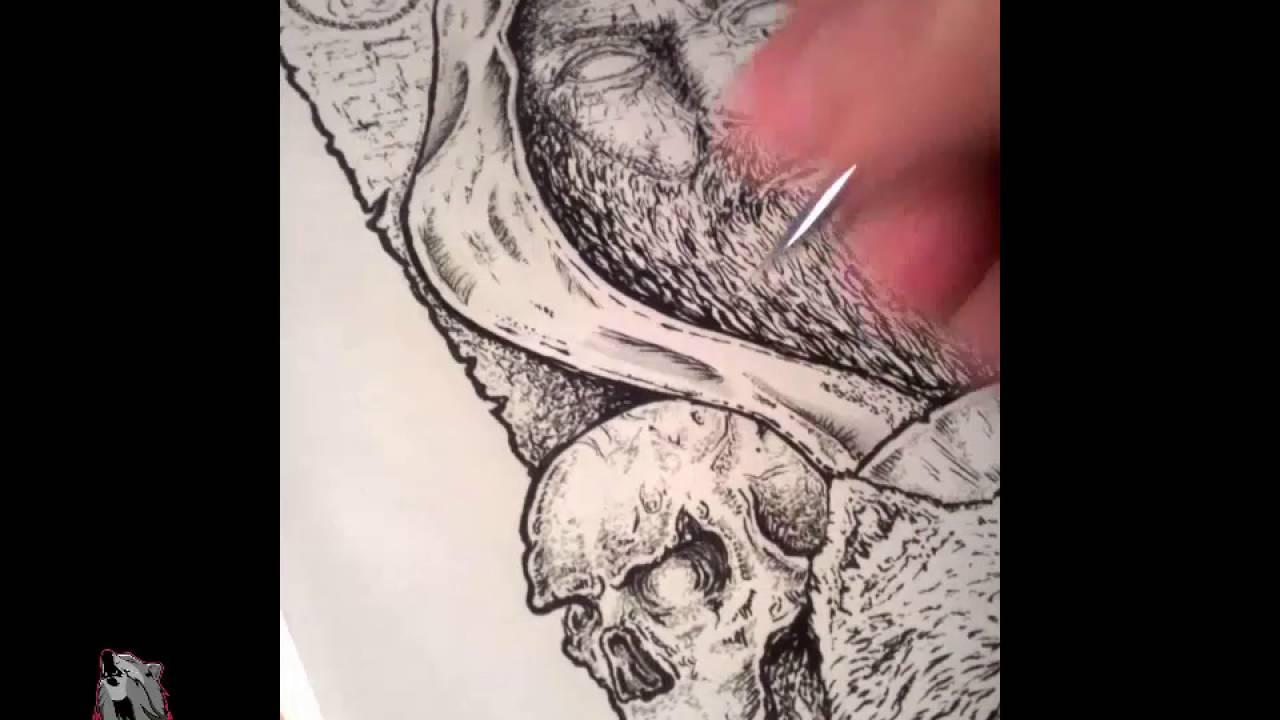 Dot Drawing Technique (stippling) KG Art Design