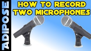 How to record TWO microphones at the SAME TIME! Voice Meeter Tutorial