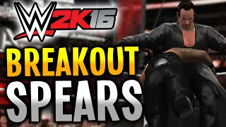 WWE 2K16 - ENTRANCE BREAKOUT SPEARS! (PS4/XBOX ONE)