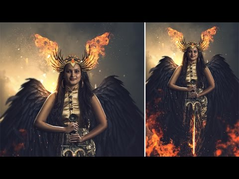 Photoshop Manipulation Tutorial | Girl Wing Fire Effect Part1