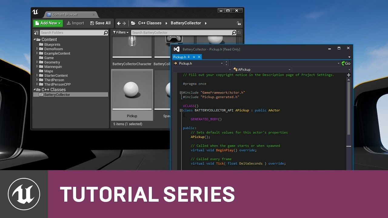 C++ Battery Collector: Adding Variables & Functions | 04 | v4 9 Tutorial  Series | Unreal Engine