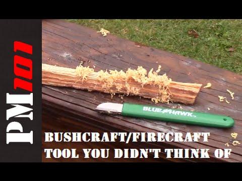 Bushcraft / Firecraft Tool - 90 Degree Spine Alternative  - Preparedmind101