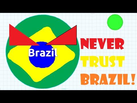 NEVER TRUST BRAZIL! - Agar.io (Agario) #1