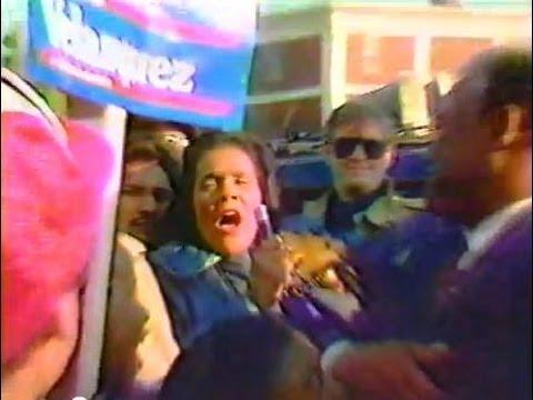 CORETTA SCOTT KING & HAROLD WASHINGTON @ 1987 CHICAGO mayoral race - CBS news segment
