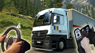 ★Mercedes-Benz Actros - Euro Truck Simulator 2 with logitech G27 | Wheel/feet camera #14