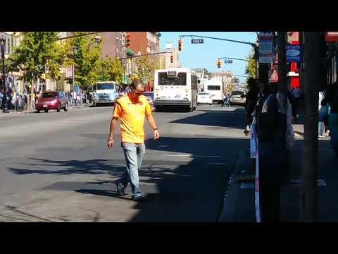 New Jersey Transit Bus: North Bergen Bound NABI On The 22 Passing By On 53rd St & Bergenline Av