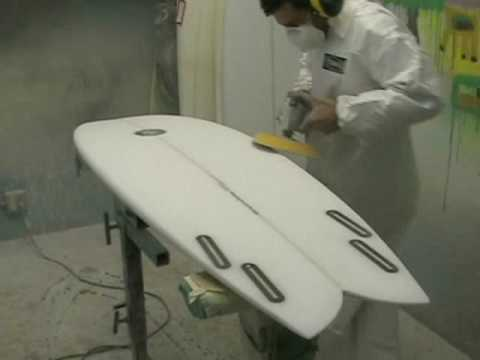 Tim Stamps Sanding a Surfboard!