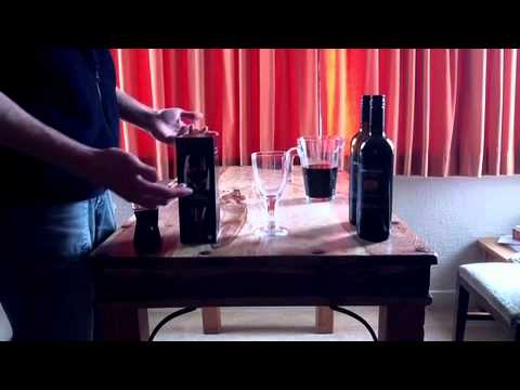 Decanting wine compared to Aerating wine - Using the 2009 Touchstone Syrah Organic Wine
