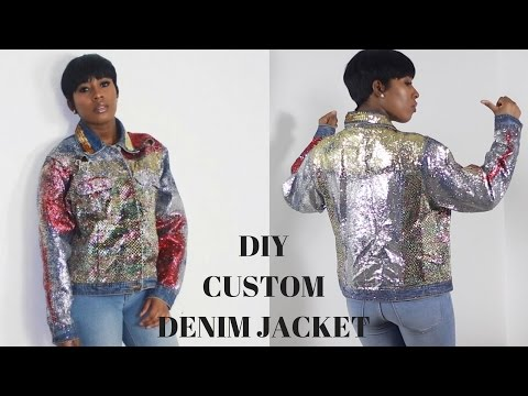 DIY CUSTOM DENIM GLITTER JACKET!