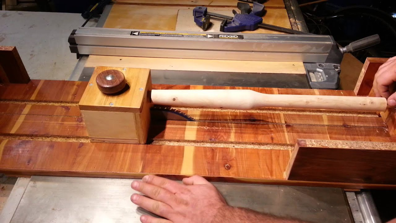 Table Saw Jig Table Saw Lathe Update Youtube