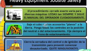 Heavy Equipment Safety spanish 4 2013