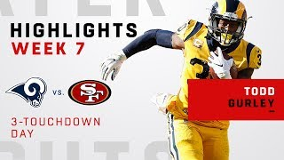 Todd Gurley's Great Game w/ 3 TDs vs. 49ers