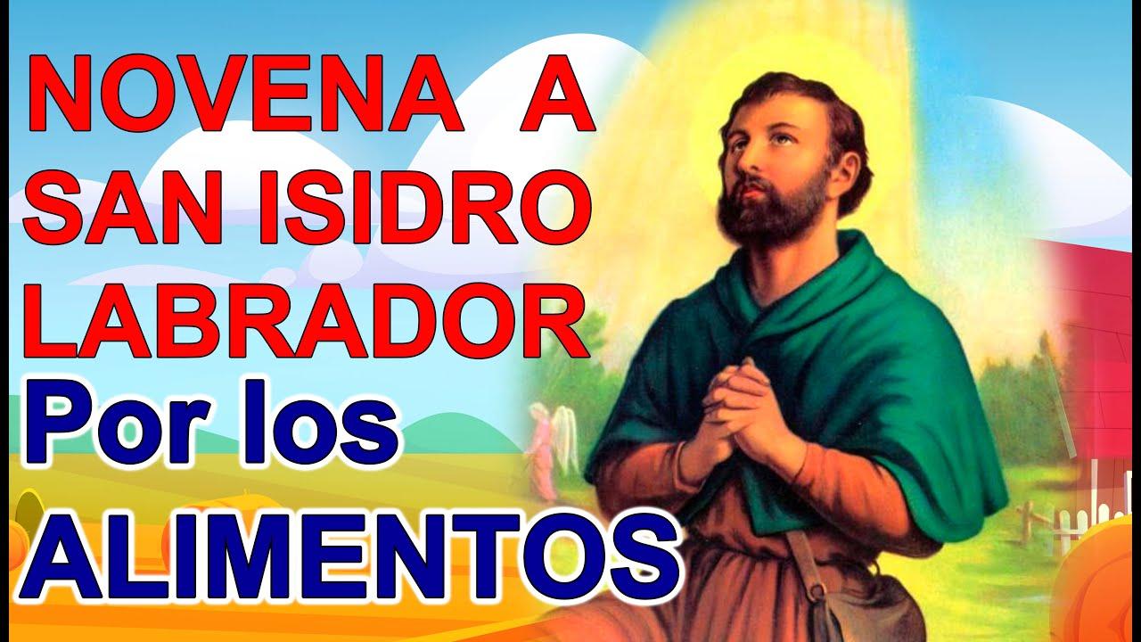Novena milagrosa a San Isidro Labrador Oración por los alimentos