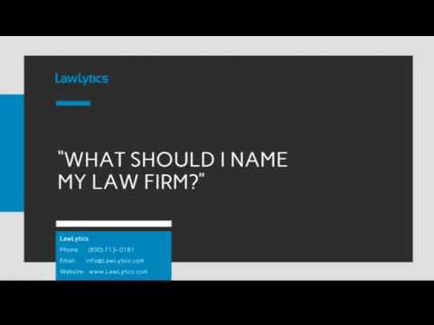What Should I Name My Law Firm?