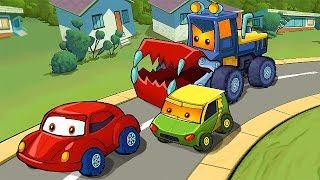 КРАСНАЯ МАШИНКА и ХИЩНЫЕ МАШИНЫ #1! Мультик по игре Car Eats Car 4 МУЛЬТИПЛЕЕР