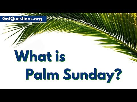 What is Palm Sunday | Holy Week / Passion Week | GotQuestions.org