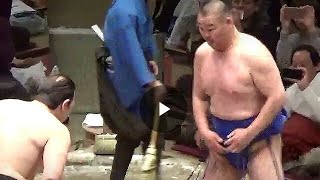 ロボコップ今年も登場!  高見盛(振分親方)×琴欧州(鳴戸親方) OB戦  2018年大相撲トーナメント