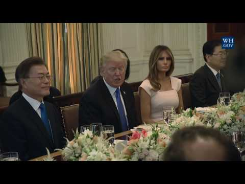 President Trump and the First Lady Host President Moon for State Dinner