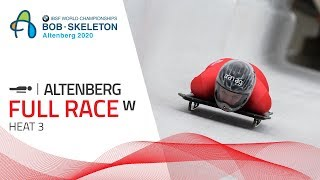 Altenberg | BMW IBSF World Championships 2020 - Women's Skeleton Heat 3 | IBSF Official
