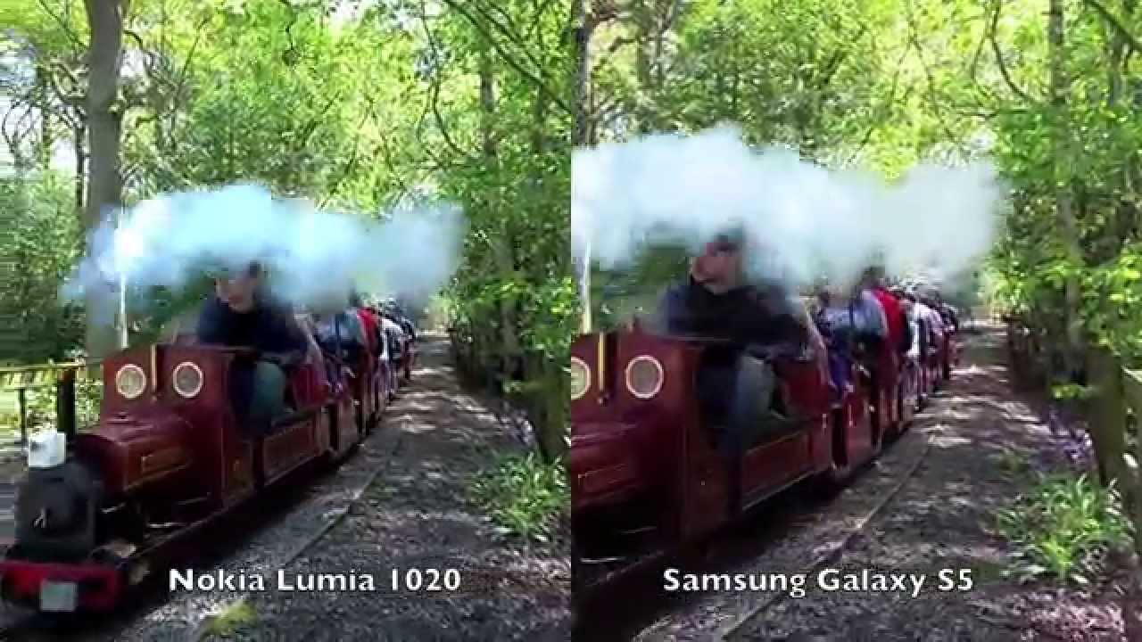 Video capture comparison: Lumia 1020 vs Galaxy S5 - YouTube