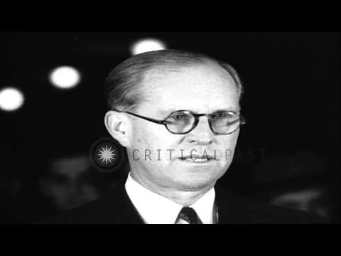 Joseph P. Kennedy says that the US should strive to maintain peace in Europe as h...HD Stock Footage