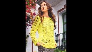 Элегантный Джемпер Спицами 2019/ Elegant Sweater With Knitting Needles/ Strickjacke Mit Stricknadeln