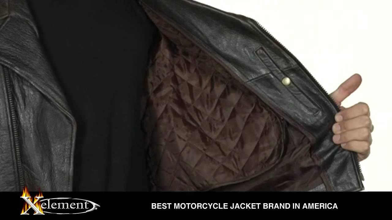 Xelement Men S Brown Buffalo Distressed Leather Biker Jackets Youtube