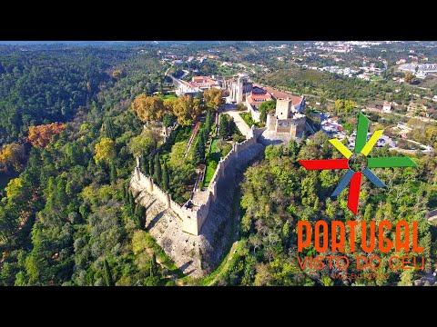 Convento de Cristo & Tomar aerial view - 4K Ultra HD