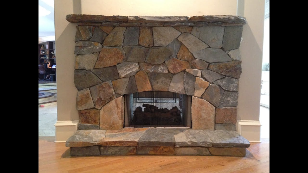 Natural Stone For Fireplace natural stone fireplace- naples, fl (mountain mist stone) - youtube