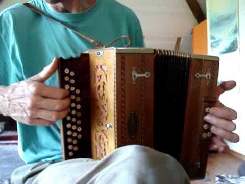 Antique accordion Dave Jolly's La Bonne Franquette