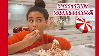 VLOGMAS | DAY 21 : PEPPERMINT SUGAR COOKIES !! || Asia Monet