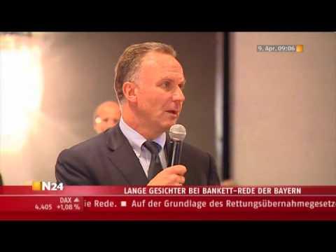 Download Krise bei Bayern, Bankett-Rede von Karl-Heinz Rummenigge, FC Barcelona - Bayern München 4:0