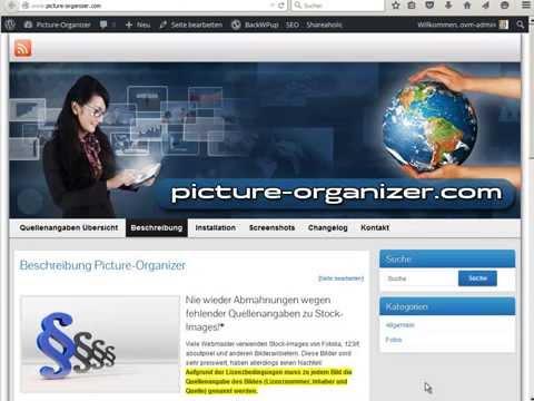 WordPress-Plugin Picture-Organizer Tutorial Deutsch