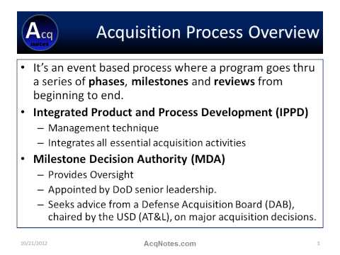 DoD Acquisiton Process Overview